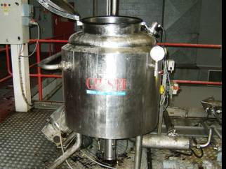 250 litre Guisti stainless steel jacketed mixing vessel