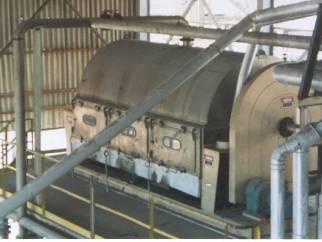 Buffalovak 316L single drum flaker 1524mm diameter by3657mm long.