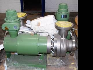 Used Nikkiso-KSB Model HT260-D1-C3 040-250  Stainless steel canned motor centrifugal pump