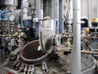Used Pfaudler-Balfour RB-84-2000, 9090 litre 9115 blue glassed steel vertical reactor