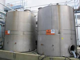 Used 45,000 Litre 316 Stainless Steel Storage Tanks
