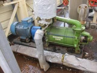 Used stainless steel Sihi liquid ring vacuum pump Type LPHA 65327.