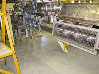 Used 6m long pressure rated stainless steel horizontal screw conveyor.