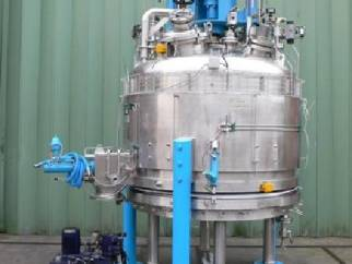 Used GUEDU Model ML-3000 316L Stainless Steel Nutsche filter dryer.