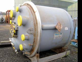 Unused re-glassed De Dietrich BE2500 glass lined reactor body only (Base unit).
